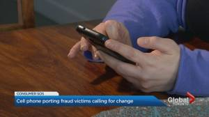 Cellphone porting scam warning
