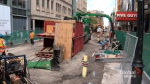 Road construction booming in downtown Montreal