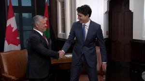 Justin Trudeau meets with King of Jordan in Ottawa