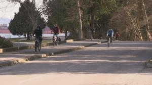 Stanley Park bike lane rally (04:10)