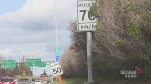 Construction speed sign discrepancy leaving Calgary drivers confused
