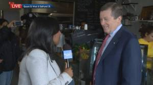 Tory pays Soufi's a visit after restaurant closed due to alleged death threats