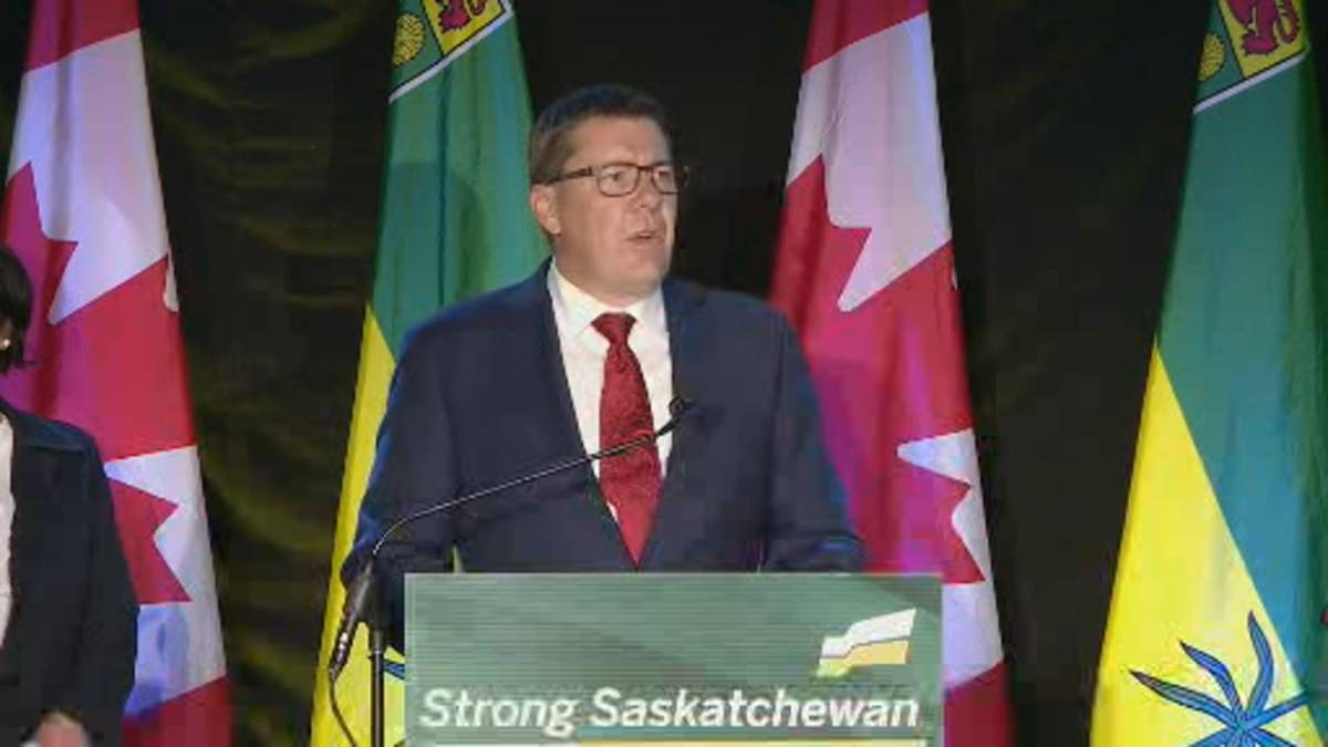 Click to play video 'Saskatchewan election 2020: Scott Moe says he intends to build a 'strong Saskatchewan for everyone''