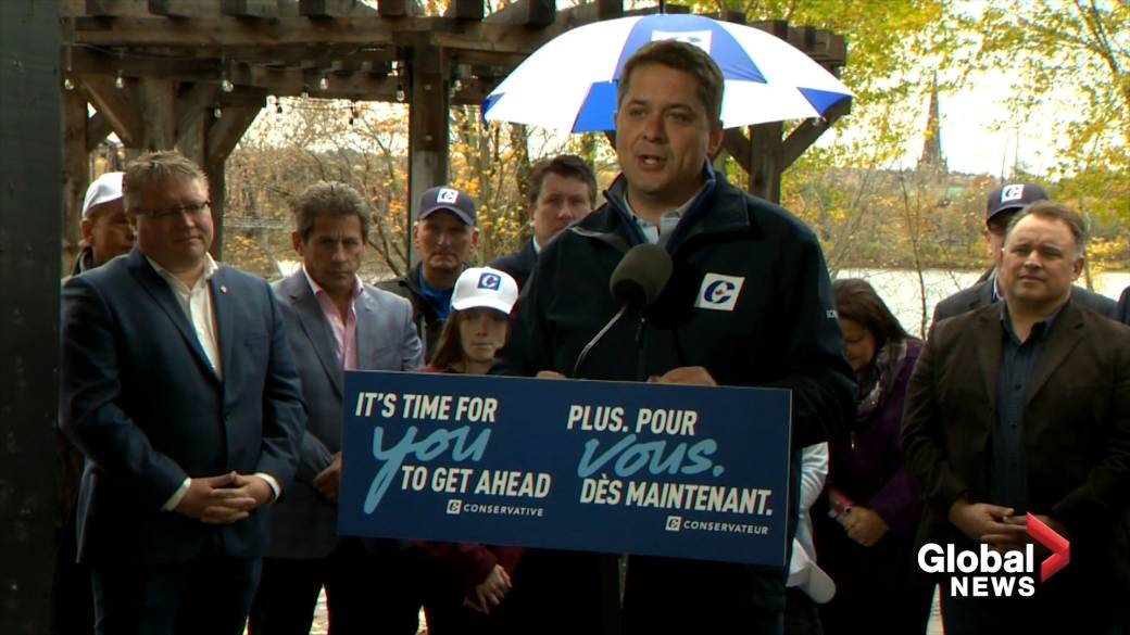 Blaine Higgs compares Quebec to Canada's favourite child at Scheer campaign stop