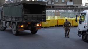 Coronavirus outbreak: British Army delivers medical supplies to London hospital