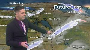 Chance of flurries: April 22 Manitoba weather outlook (01:42)