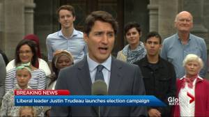 "2019 Federal Election: Trudeau ""sticks to talking points"" when pressed on SNC-Lavalin, Bill 21"