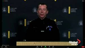 Calgary police say officer who was killed during traffic stop collision helped investigation into own death (00:46)