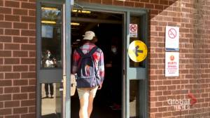New Brunswick university students upset over lack of polling stations (01:56)