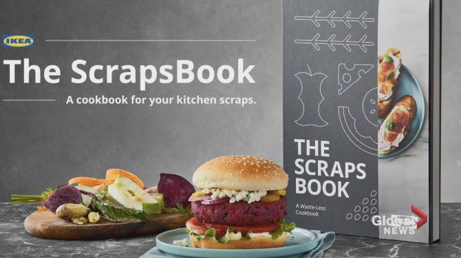 Click to play video: New cookbook aims to reduce food waste