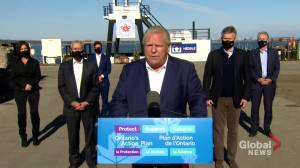 Coronavirus: Hamilton shipbuilding company enters 'historic partnership' as part of effort to rebuild economy, says Ford (01:17)
