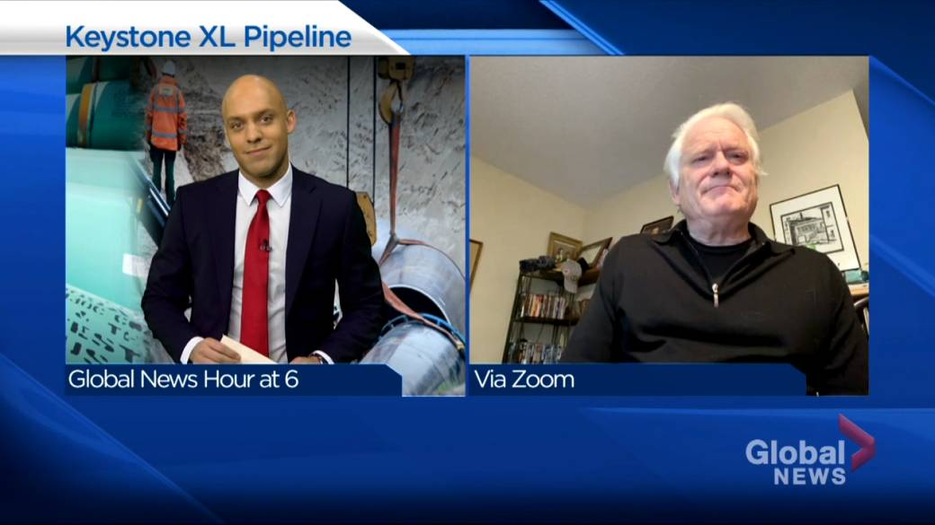 Click to play video 'Former energy executive hopes Biden well negotiate with Canada over Keystone'
