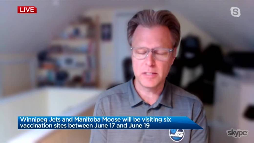 Click to play video: 'Winnipeg Jets and Manitoba Moose join vaccine push'