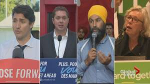 Canada election: Federal party leaders lay out climate change plans (01:54)