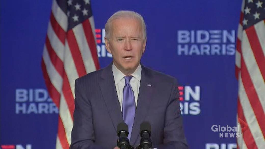 Click to play video 'US election: Biden urges 'calm' and promises all votes will be counted'