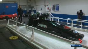 CFLers chase Grey Cups and gold medals as part of Canada's national bobsleigh team (01:53)