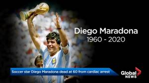Soccer legend Diego Maradona dead at 60 (01:40)