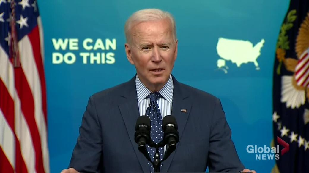 Click to play video: 'Biden shares strategy on reaching 75% of Americans immunized against COVID-19'