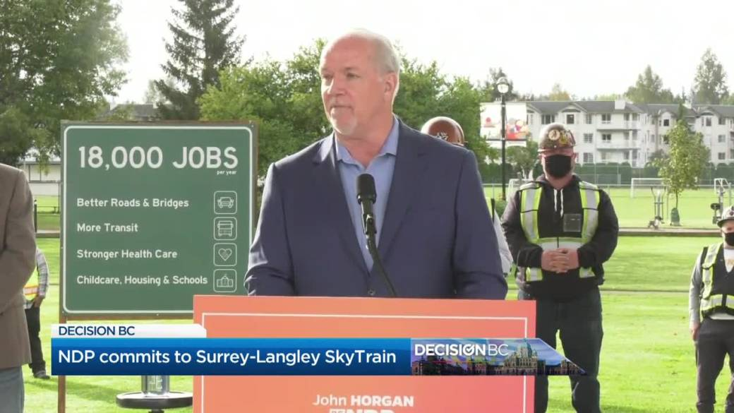 Click to play video 'Decision BC: BC NDP promise Skytain extension, BC Liberals pledge to help small businesses'