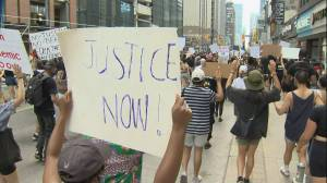 Anti-racism protest held in downtown toronto
