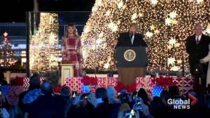 Donald Trump, wife Melania light up National Christmas Tree