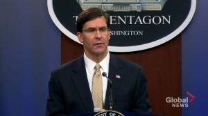 'His time was due': Esper on death of Iranian Gen. Soleimani