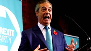 Brexit Party's Farage says UK PM must drop new EU Brexit deal or face fight for every seat
