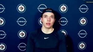 RAW: Winnipeg Jets Ville Heinola Interview – Apr. 15 (03:21)
