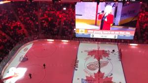 Hockey fans sing Canadian national anthem after mic goes out