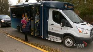 Cochrane starts on-demand bus service, plans to expand to Calgary in the works (01:47)