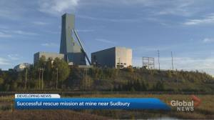 Rescue efforts near completion for 39 trapped miners near Sudbury, Ont. (02:33)