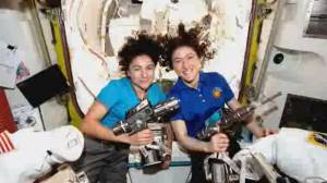 It's about time: Astronauts make history with first all-female spacewalk