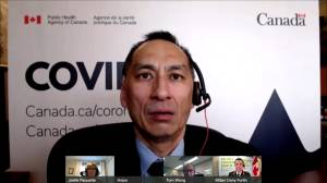 COVID-19 vaccine uptake for Canadians 80+ higher than for flu shot, Dr. Njoo says (01:03)