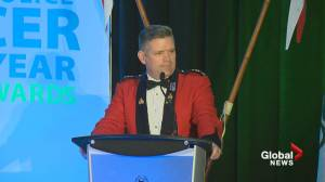 Surrey RCMP top cop lashes out at critics during award ceremony speech
