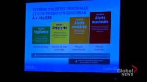 Quebec unveils regional COVID-19 alert system