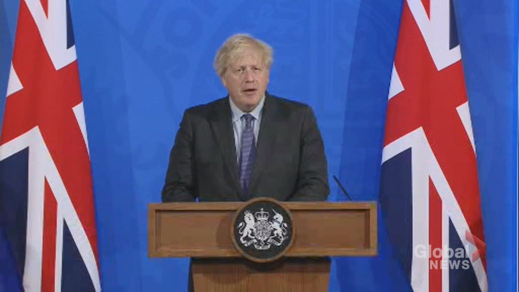 Click to play video: 'Britain to delay reopening by four weeks due to Delta variant spread'