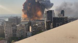 Lebanese president hints missile may be behind Beirut blast
