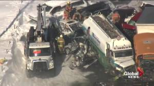 Major multi-vehicle crash on Highway 15 involving dozens of cars and trucks