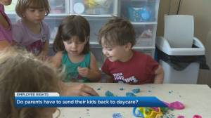 Childcare rights for parents as Ontario reopens