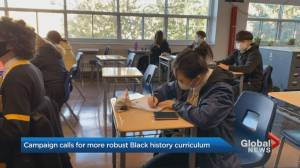 Ontario campaign calls for more robust Black history curriculum (01:44)