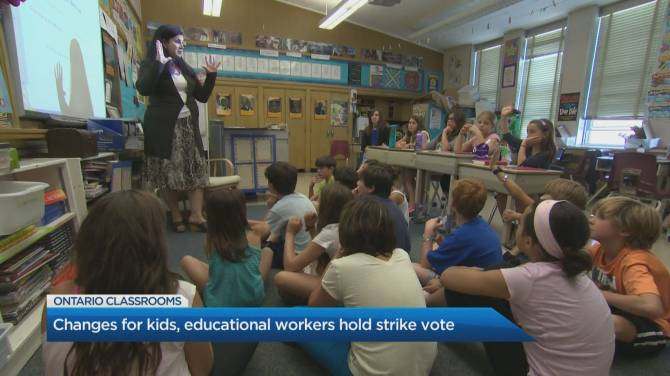 Unionized Ontario education workers vote overwhelmingly in favour of strike