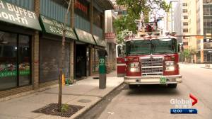 Calgary police investigate suspicious fire at downtown restaurant