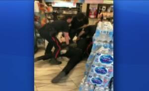 Edmonton police arrest at downtown convenience store Part 1