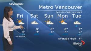 B.C. evening weather forecast: Jan. 14 (01:53)