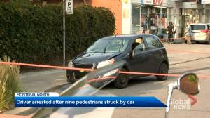 Car strikes and injures 9 pedestrians in Montreal North