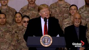 Trump touts military spending on Thanksgiving visit to U.S. troops in Afghanistan