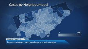 Toronto releases map revealing coronavirus cases
