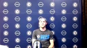 RAW: Nikolaj Ehlers interview after Jets OT win (04:35)