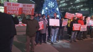 Safe Surrey Coalition holds rally to support Surrey budget