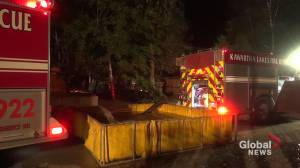 Early morning fire destroys cottage in Coboconk